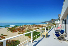Malibu Beach home rental on Broad Beach