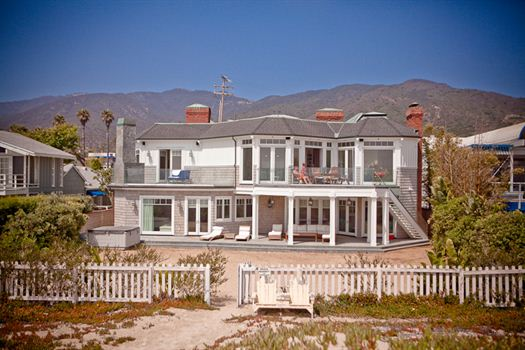 Pacific coast beach mansion for Malibu mansions for rent